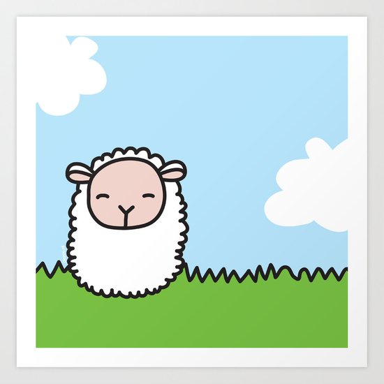 Sleeping Sheep Art Print