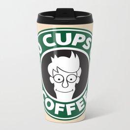 100 Cups of Coffee Metal Travel Mug