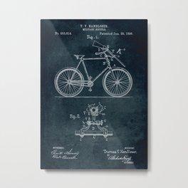 1896 Military bicycle patent Metal Print