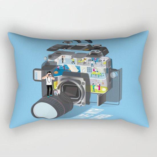 A life with camera Rectangular Pillow