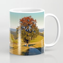 Roadside tree in indian summer colors | landscape photography Coffee Mug