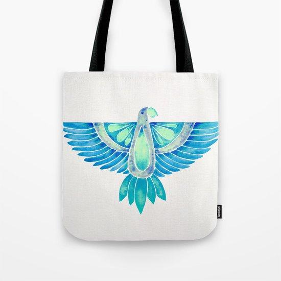 Parrot – Blue Ombré Tote Bag