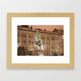 Joan of Arc Frozen in Time Framed Art Print