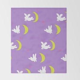 Usagi (Sailor Moon) Bedspread Bunny and Moon  Throw Blanket
