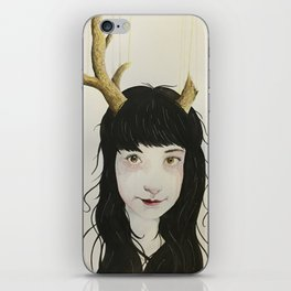 Girl With Antlers I iPhone Skin