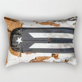 Puerto Rico Black flag Rectangular Pillow