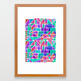 Watercolour Shapes Framed Art Print