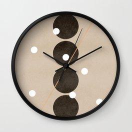Connecting dots, minimalistic artworks Wall Clock