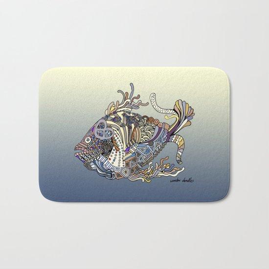 Dragon Fish (Color) Bath Mat