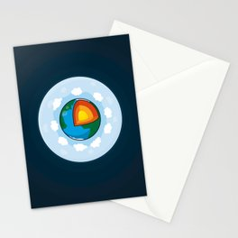 Earth Cake Stationery Cards