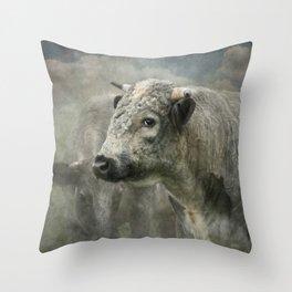 Blue Albion Throw Pillow