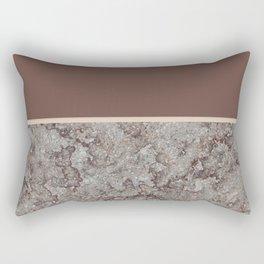 Brown Meets Brown Gray Concrete #1 #decor #art #society6 Rectangular Pillow
