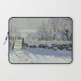Monet, The Magpie (La Pie) (Die Elster) 1868-1869 Laptop Sleeve