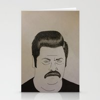 swanson Stationery Cards featuring Swanson by Clayton Craiger