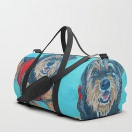 Rescue Mutt Dog Portrait Duffle Bag