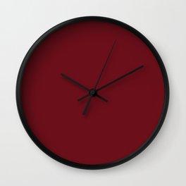 Persian Plum Solid Color Block Wall Clock