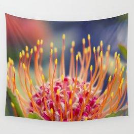 Tropical Sunburst - Leucospermum Pincushion Protea Flower Wall Tapestry