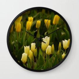 It's tulip mania! Wall Clock