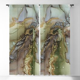 Enchanted Tree Roots Abstract Ink Painting Blackout Curtain