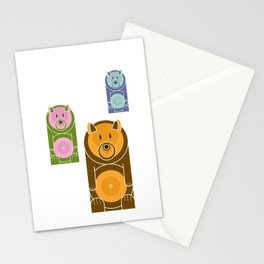 Bear With The Mod Target Belly Stationery Cards