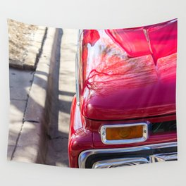 Red Truck Wall Tapestry