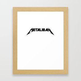 Metaliban (Black Letters) Framed Art Print