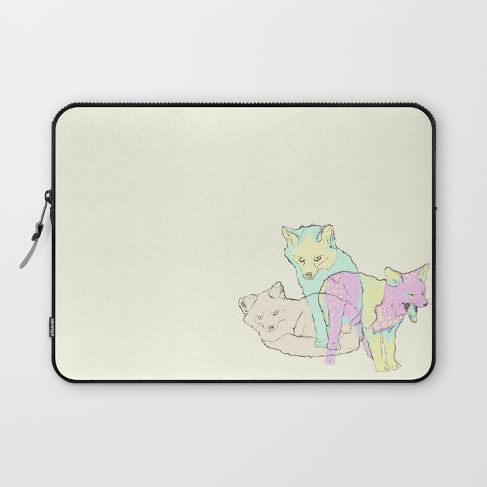 3 Channel Island Foxes Laptop Sleeve