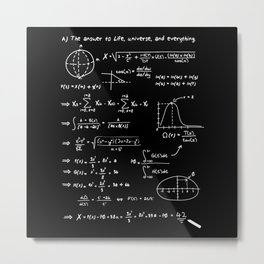 The answer to life, univers, and everything. Metal Print