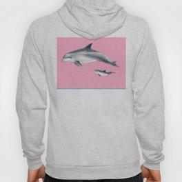 Bottlenose dolphin pink Hoody