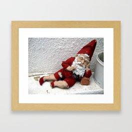 Vintage Santa Claus Framed Art Print