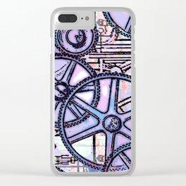 Steampunk Gearwheels Clear iPhone Case