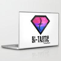 bisexual Laptop & iPad Skins featuring Bi-Tastic Bisexual medalion  by SuperQueero