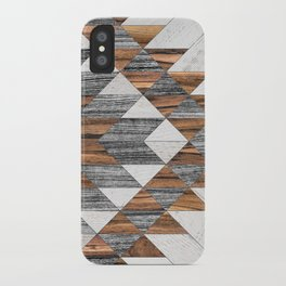 Urban Tribal Pattern No.12 - Aztec - Wood iPhone Case