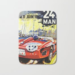 1961  Vintage Race Poster Bath Mat