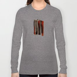 Red & Black Brushstrokes  Long Sleeve T-shirt