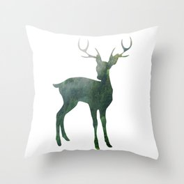 A wild Deer Throw Pillow