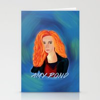 amy pond Stationery Cards featuring Amy Pond by STATE OF GRACCE
