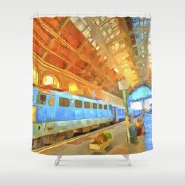 Pop Art Railway Station Shower Curtain