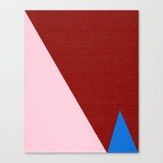 Blue Triangle Canvas Print