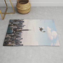 Falling-New York City Skyline Rug