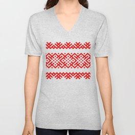 Pattern - Bogoroditsa - Slavic symbol Unisex V-Neck