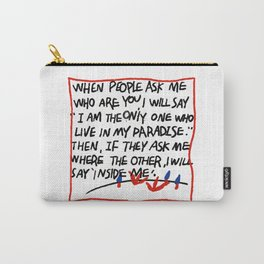 Ugly hand writing by artist ozo Carry-All Pouch
