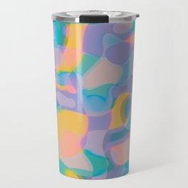 Neon Shapes / Vibrant, Colorful Abstraction Travel Mug