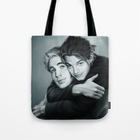 stucky Tote Bags featuring Everlasting Love by Anne the Viking