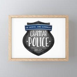 Grammar Police Framed Mini Art Print
