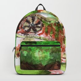 Panther Chameleon on a branch Backpack
