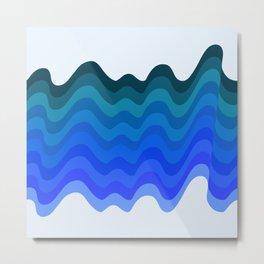 Retro Ripple Sea Wave Metal Print