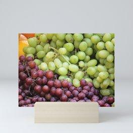red and white grape Mini Art Print