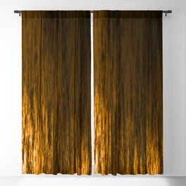 Bright texture of shiny foil of bronze flowing waves on a dark fabric. Blackout Curtain