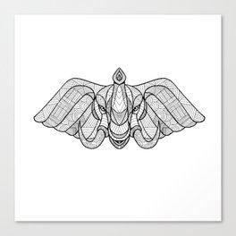 Elephant Head Front Zentagle Canvas Print